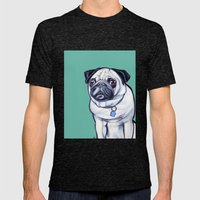 Pancake The Pug Mens Fitted Tee Tri-Black SMALL