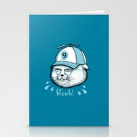 I have 9 lives, so Bleeh! Stationery Cards