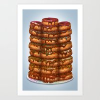 Donuts III 'sparkles&cho… Art Print