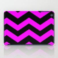Black & Pink Chevron Lines  iPad Case