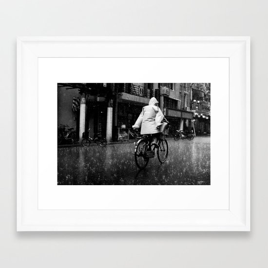 No Hands Framed Art Print