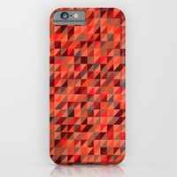 iPhone & iPod Case featuring Quilted Reds / Retro Triangles by Matthew Klaver