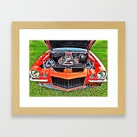 Car Engine Framed Art Print