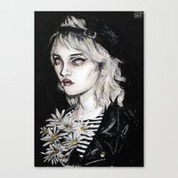 Sky ferreira no………………………..11 Canvas Print