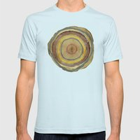 Tree Rings Mens Fitted Tee Light Blue SMALL