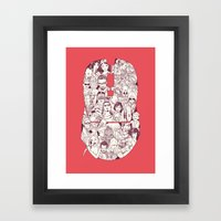 Adulthood Mash-Up Framed Art Print