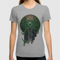 Eye Of Cthulhu Womens Fitted Tee Athletic Grey SMALL