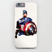Polygon Heroes - Captain America iPhone 6 Slim Case
