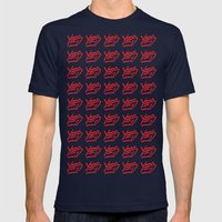 YES! Pattern Mens Fitted Tee Navy SMALL