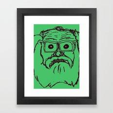 Allen ginsberg in green Framed Art Print