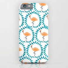 Flamingo and Leaves Slim Case iPhone 6s