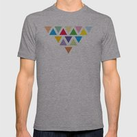 TRIANGLE COMPOSITION Mens Fitted Tee Athletic Grey SMALL