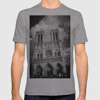 Notre Dame Mens Fitted Tee Athletic Grey SMALL