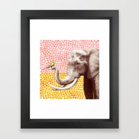 New Friends 2 By Eric Fa… Framed Art Print