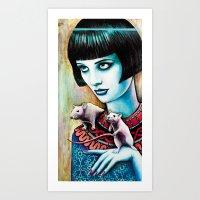 Diana And The Rats Art Print