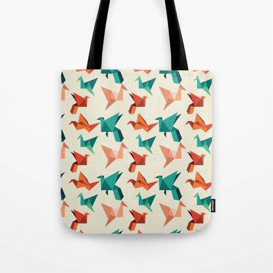 teal paper cranes Tote Bag