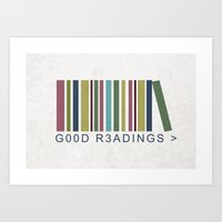 Good Readings are priceless Art Print
