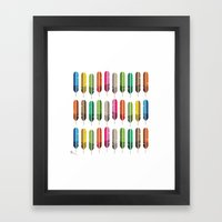 Rainbow Feathers Framed Art Print