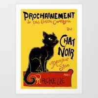 Chat Noir Monsieur Steve Art Print
