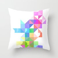 Color Love Throw Pillow