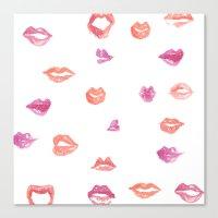 Kiss! Kiss! Canvas Print