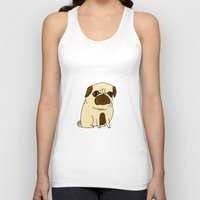 Tank Tops featuring Pugs Not Drugs by gemma correll
