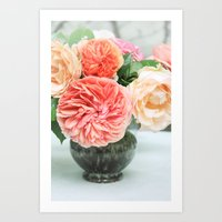 Vintage Roses I Art Print