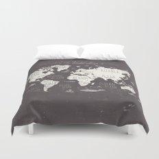 The World Map Duvet Cover