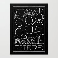 GO OUT THERE (BW) Canvas Print