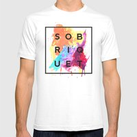 Sobriquet Watercolour. Mens Fitted Tee White SMALL