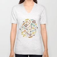 Autumn Blooms Unisex V-Neck