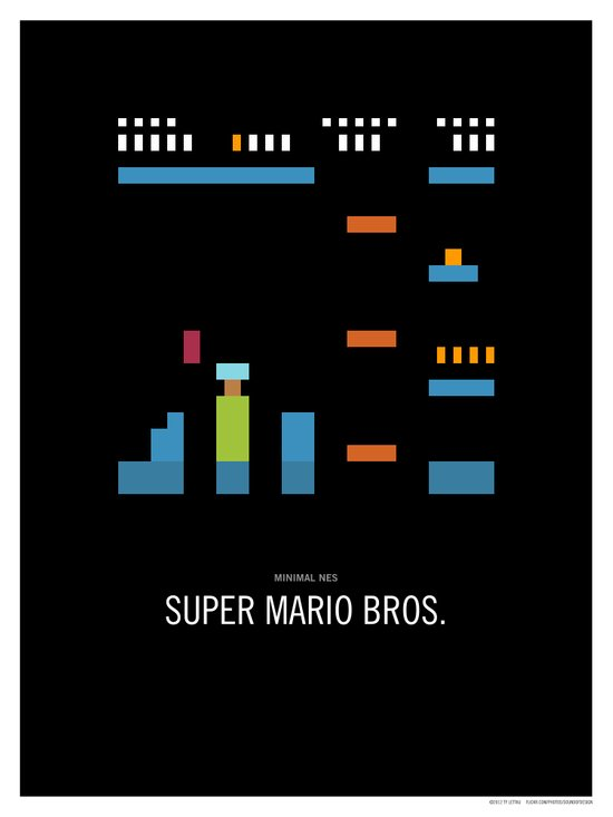 Minimal NES - Super Mario Bros. Canvas Print