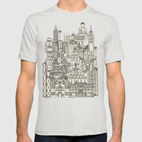 Hong Kong Toile De Jouy Mens Fitted Tee Silver SMALL