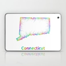 Rainbow Connecticut map Laptop & iPad Skin