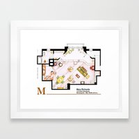 Mary Richards apt. from The Mary Tyler Moore Show Framed Art Print