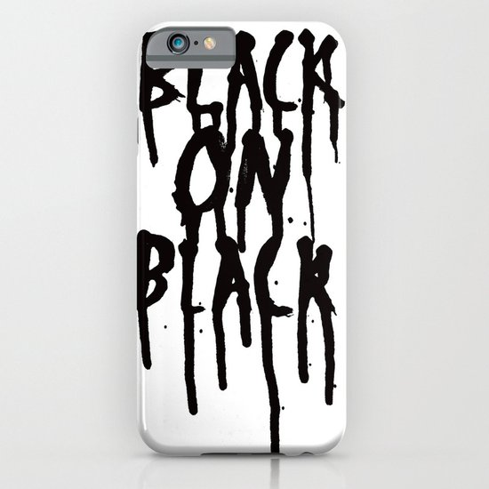 Black on black iPhone & iPod Case