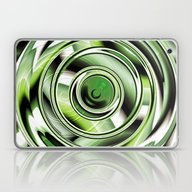 Laptop & iPad Skin featuring Abstract Circle Green by Christine Baessler