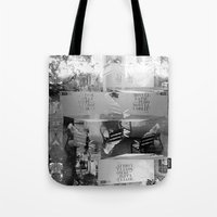 Summer space, smelting selves, simmer shimmers. [extra, 9, grayscale version] Tote Bag