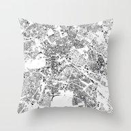 Throw Pillow featuring Berlin Schwarzplan by City Map Art