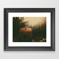 Poaroid Framed Art Print