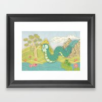 Javanese Mystical Dragon… Framed Art Print
