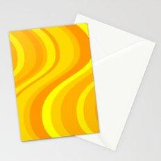 Orange Waves Stationery Cards