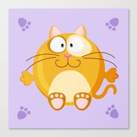 Cat from the circle series Canvas Print