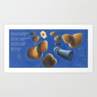 POEM OF POTATOES Art Print