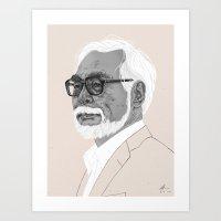 Hayao Miyazaki Art Print