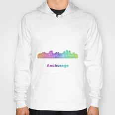 Rainbow Anchorage skyline Hoody