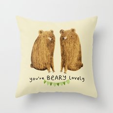Beary Lovely Throw Pillow