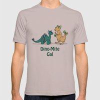Dino-Mite Gal Mens Fitted Tee Cinder SMALL