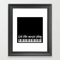 Let The Music Play Framed Art Print
