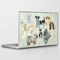 dogs Laptop & iPad Skins featuring Dogs by Augustwren